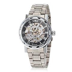 お買い得  メンズ腕時計-WINNER 男性用 リストウォッチ / 機械式時計 透かし加工 ステンレス バンド 蝶型 シルバー / 手巻き式