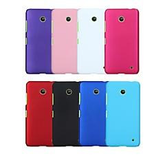 Недорогие Чехлы и кейсы для Nokia-Кейс для Назначение Nokia Lumia 635 Nokia Кейс для Nokia Защита от удара Кейс на заднюю панель Сплошной цвет Твердый ПК для