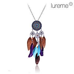 preiswerte Halsketten-Damen Anhängerketten - Blume, Feder Modisch Blau Modische Halsketten Für Party