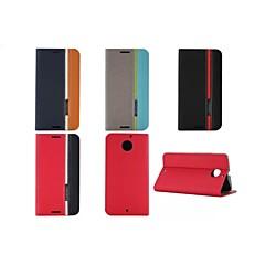 Недорогие Чехлы и кейсы для Motorola-Кейс для Назначение Motorola Кейс для Motorola Бумажник для карт со стендом Флип Чехол Сплошной цвет Твердый Кожа PU для