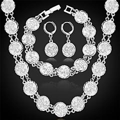 お買い得  ジュエリーセット-新しいヴィンテージアッラーのネックレスのイヤリングは、設定された高品質の18Kゴールドプラチナはイスラム教徒の宝石類のギフトをメッキブレスレットu7®