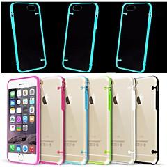 Для Кейс для iPhone 6 / Кейс для iPhone 6 Plus Сияние в темноте / Мигающая LED подсветка / Прозрачный Кейс для Задняя крышка Кейс дляОдин