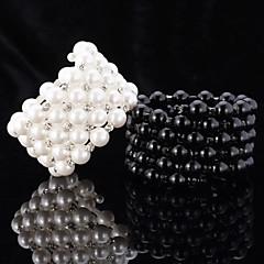 U7® European Style Pearl Beads Cool Bangle Friendship Bracelets Austrian Rhinestone Jewelry Gift for Girl