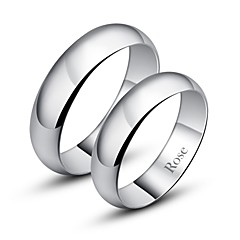 cheap Rings-Women's Couple's Silver Band Ring Ring - Silver Fashion Jewelry For Daily