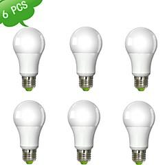 preiswerte LED-Birnen-980 lm E26 / E27 LED Kugelbirnen A60(A19) 1 LED-Perlen COB Warmes Weiß 100-240 V / 6 Stück / RoHs / ASTM