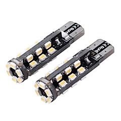T10 3W 180lm 3500-4000K 30-SMD 1206 LED Warm White Light Car Width Lamp (12V / 2 PCS)