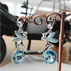preiswerte Ohrringe-Damen Tropfen-Ohrringe - Purpur / Blau Für Hochzeit / Party / Alltag