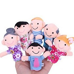 cheap Puppets-Action Figure Finger Puppets Puppets Cute Lovely Textile Plush Girls' Gift 6pcs