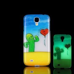 cactus patrón resplandor en el caso duro oscura para mini i9190 Samsung Galaxy S4