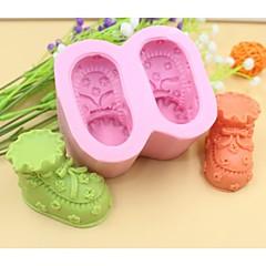 baby sko formet fondant kage chokolade silicone skimmel kage dekoration værktøjer, l8.5cm * w7.2cm * h4.5cm