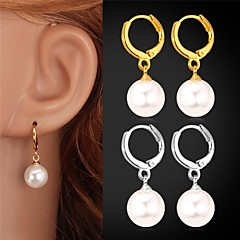 cheap Earrings-Drop Earrings Pearl Birthstones Pearl Imitation Pearl Platinum Plated Gold Plated Jewelry Wedding Party Daily Casual Sports Costume