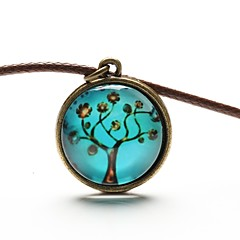 Women's Pendant Necklaces Synthetic Gemstones Leather Resin Fashion Jewelry For Daily Casual Sports