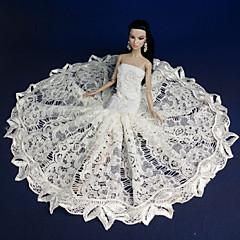 abordables Ropa para Barbies-Fiesta / Noche Vestidos por Muñeca Barbie  Tela de Encaje / Organdí Vestido por Chica de muñeca de juguete