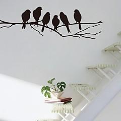 벽 스티커 벽 데칼, 분기, 조류의 PVC 벽 스티커