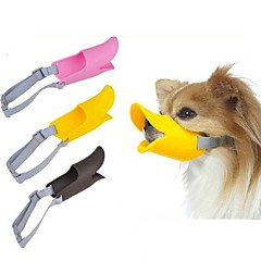 Dog Muzzle Adjustable / Retractable Anti Bark Safety Solid Silicone Yellow Brown Pink