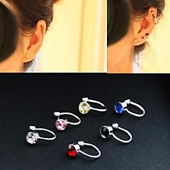 preiswerte Ohrringe-Damen Kubikzirkonia Ohr-Stulpen - Zirkon Modisch Rot / Blau / Rosa Für Hochzeit Party Alltag