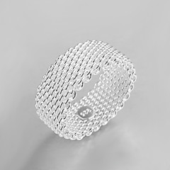 preiswerte Ringe-Damen Kristall Bandring - Sterling Silber, Silber Quaste, Retro, Modisch 6 / 7 / 8 / 9 / 10 Silber Für Hochzeit Party Alltag
