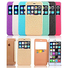 Для Кейс для iPhone 6 / Кейс для iPhone 6 Plus с окошком / Флип Кейс для Чехол Кейс для Плитка Твердый Искусственная кожаiPhone 6s Plus/6