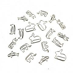 forma creativa del clip de papel de los animales pequeños 16 PC estilo al azar