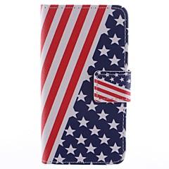 Χαμηλού Κόστους Galaxy A5 Θήκες / Καλύμματα-Για Samsung Galaxy Θήκη Θήκη καρτών / με βάση στήριξης / Ανοιγόμενη / Μαγνητική / Με σχέδια tok Πλήρης κάλυψη tok Σημαία Συνθετικό δέρμα