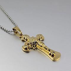 Недорогие Ожерелья-Бижутерия Ожерелья с подвесками Свадьба / Для вечеринок / Повседневные Титановая сталь Мужчины Серебряный Свадебные подарки