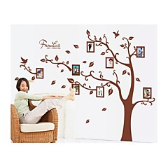 baratos -Botânico Desenho Animado Wall Stickers Autocolantes de Aviões para Parede Autocolantes de Parede Decorativos Material Lavável Removível