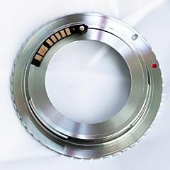 AFキヤノンEOSアダプタにレンズをマウントカールツァイスM42の42ミリメートルのネジを確認