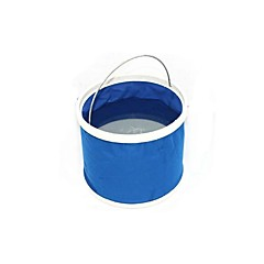 Fishing Bucket & Container Outdoor 11L Folding Bucket- Blue/red