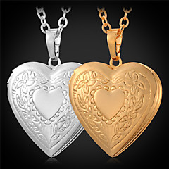 Women's Pendant Necklaces Lockets Necklaces Copper Gold Plated Fashion Golden Jewelry Daily Casual 1pc