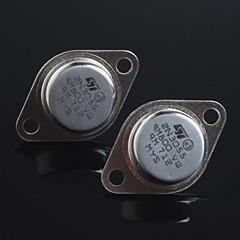 abordables Transistores-sello de oro transistor NPN 2N3055 a-3 (2 unidades)