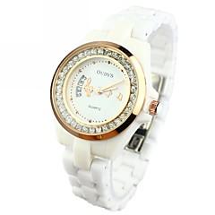 お買い得  大特価腕時計-女性用 クォーツ 30 m セラミック バンド ハンズ 白
