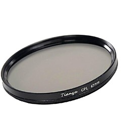 tianya 67mm CPL filtro polarizador circular para nikon d7100 d7000 18-105 18-140 canon 700d 600d lente 18-135mm