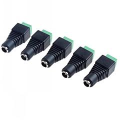 5.5 X 2.1MM CCTV 직류 전원 소켓 어댑터 (5 팩)