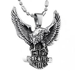 Недорогие Ожерелья-Муж. Ожерелья с подвесками - Титановая сталь На заказ, Панк, европейский Серебряный Ожерелье Назначение Повседневные
