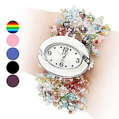 Damskie Modny Zegarek na nadgarstek Zegarek na bransoletce Kwarcowy Ceramiczny Pasmo Perły WielokoloroeBlack Brown Niebieski Różowy