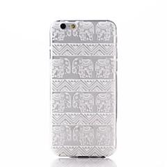 Недорогие Кейсы для iPhone 6-Для Кейс для iPhone 7 / Кейс для iPhone 7 Plus / Кейс для iPhone 6 / Кейс для iPhone 6 Plus Прозрачный / С узором Кейс для Задняя крышка