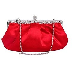 Для женщин Шёлк Для праздника / вечеринки Вечерняя сумочка Белый / Фиолетовый / Красный / Черный / Светло-коричневый