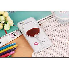 Для Кейс для iPhone 6 / Кейс для iPhone 6 Plus Движущаяся жидкость / Прозрачный Кейс для Задняя крышка Кейс для Соблазнительная девушка