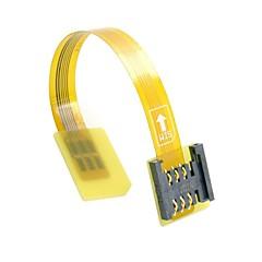 Χαμηλού Κόστους -GSM CDMA πρότυπο αρσενικό UIM κιτ κάρτα SIM σε θηλυκό επέκταση μαλακή επίπεδη καλώδιο FPC αραίωσης 10 εκατοστά