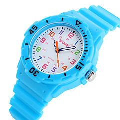 お買い得  メンズ腕時計-SKMEI リストウォッチ クォーツ 30 m カジュアルウォッチ ラバー バンド ハンズ キャンディ カジュアル ファッション ブラック / ブルー / オレンジ - グリーン ピンク ライトブルー 2年 電池寿命 / Maxell626 + 2025