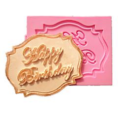 voordelige -gelukkige verjaardag cupcake kaart fondant taart mallen decoratie chocolade mal voor de keuken bakken voor kandijsuiker