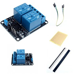 voordelige Modules-2 kanaals elektrische relais module relais uitbreidingskaart met optocoupler en accessoires voor Arduino