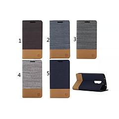 Недорогие Чехлы и кейсы для LG-Кейс для Назначение LG G2 LG Кейс для LG Бумажник для карт Кошелек со стендом Флип Чехол Сплошной цвет Твердый Кожа PU для