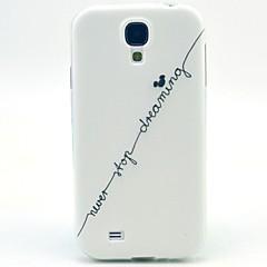Mert Samsung Galaxy tok Minta Case Hátlap Case Szó / bölcselet TPU Samsung S4 Mini