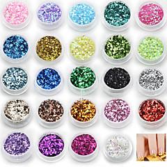 olcso -24 színben flitteres díszítéssel köröm art készletek