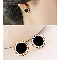 Women's Stud Earrings Costume Jewelry Rhinestone Alloy Jewelry For Party Sports