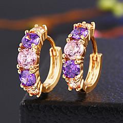 tanie Kolczyki koła-Damskie Kolczyki z klipsem biżuteria kostiumowa Kryształ Stop Biżuteria Na Ślub Impreza Codzienny Casual