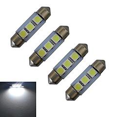 preiswerte LED-Birnen-4pcs 1 W 60 lm 3 LED-Perlen SMD 5050 Kühles Weiß 12 V / 4 Stück