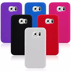 σχεδίαση σιλικόνης υλικό πίσω κάλυψη περίπτωσης για (διάφορα χρώματα) Samsung Galaxy S6