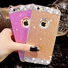 voordelige iPhone 6s Plus hoesjes-Voor iPhone X iPhone 8 iPhone 6 iPhone 6 Plus Hoesje cover Strass Achterkantje hoesje Glitterglans Hard PC voor iPhone X iPhone 7s Plus